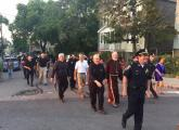 Cardinal Sean O'Malley was among the 200 people who participated in an anti-violence walk through the streets of Bowdoin-Geneva on Tuesday evening.